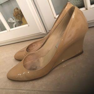 Jimmy Choo wedge heels nude 38